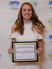 2018: Brittany McKnight; Norman High School; Oklahoma Christian University
