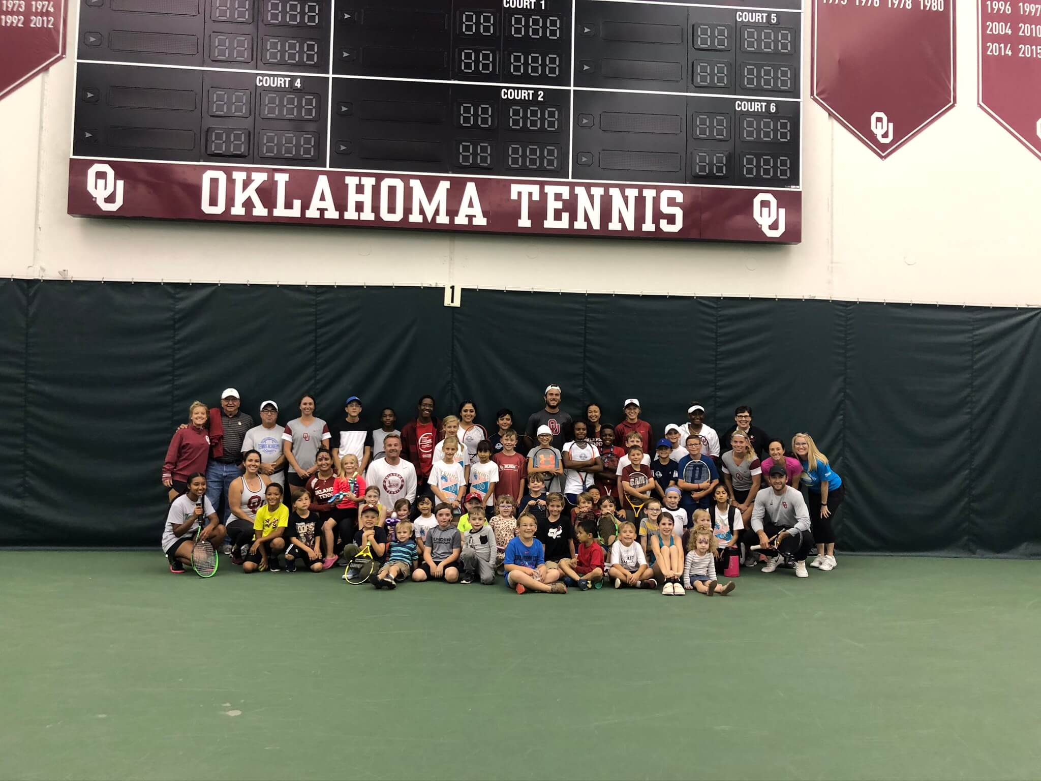 2019 Oklahoma Tennis Hall of Fame Clinic in Norman, OK Cleveland County