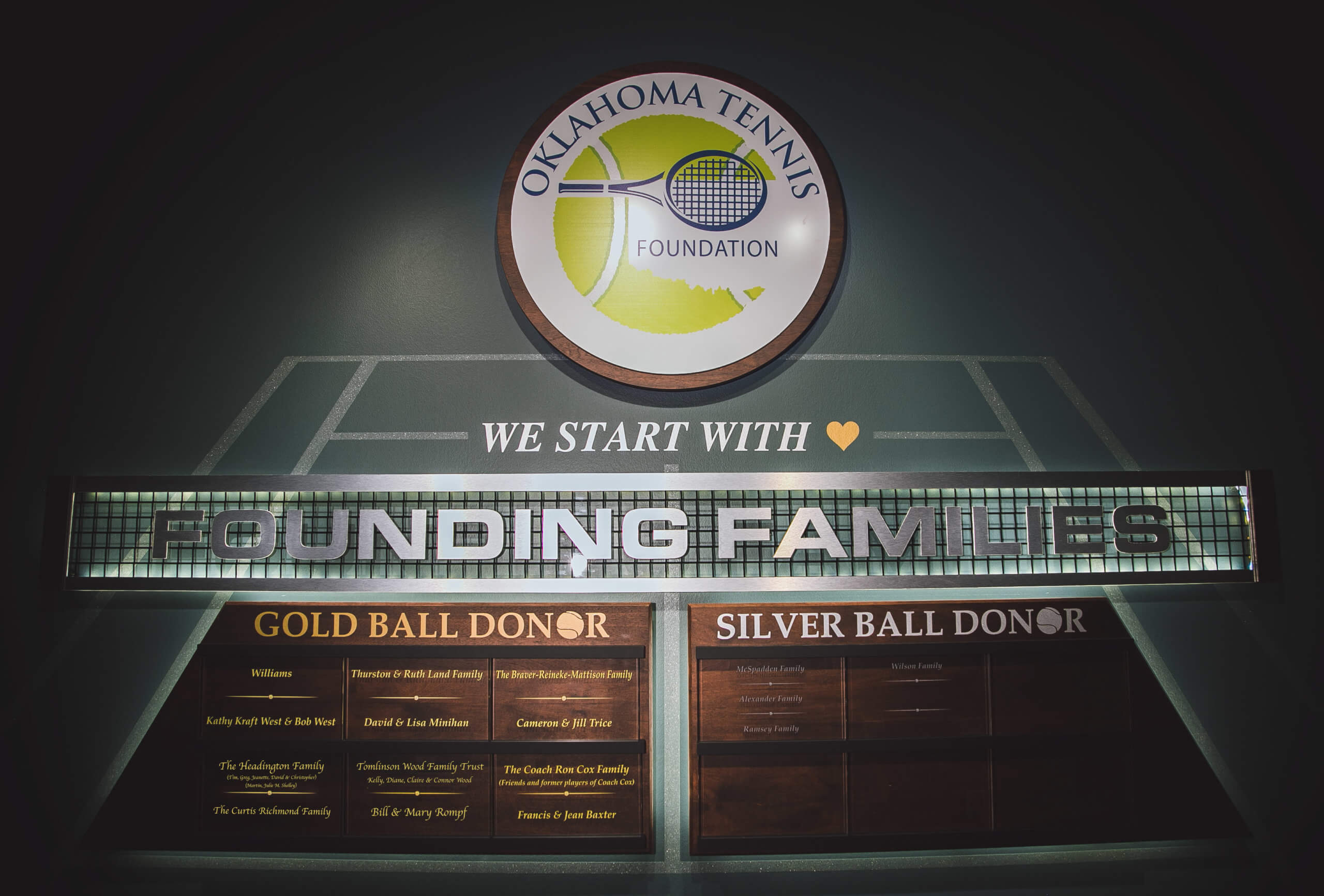 FOUNDING FAMILY WALL