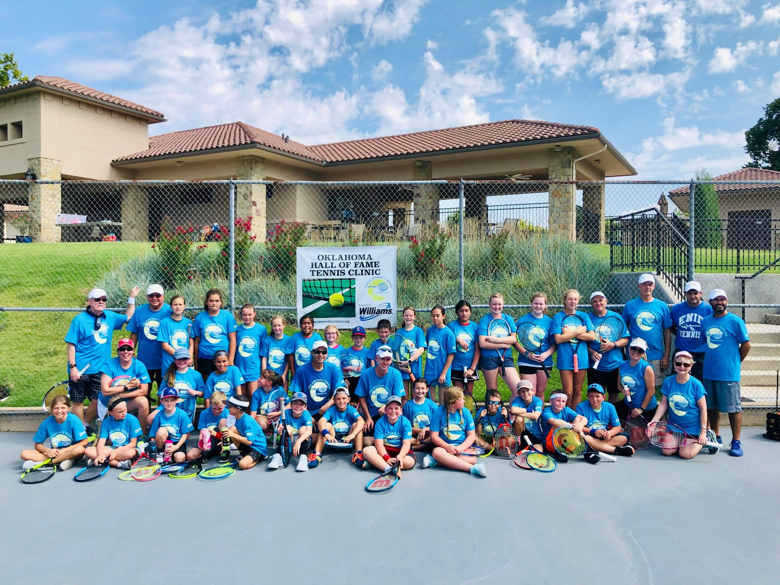 2019 Oklahoma Tennis Hall of Fame Clinic in Enid, OK Garfield County