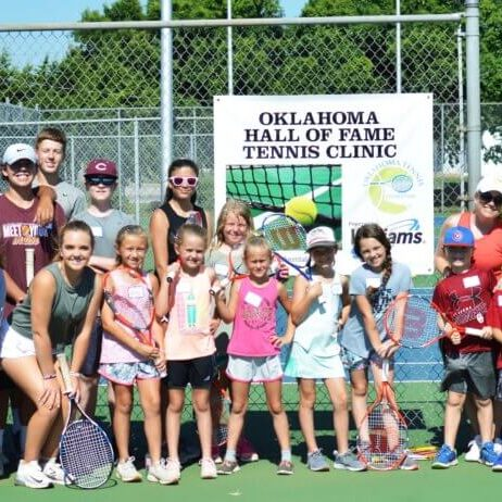 2019 Oklahoma Tennis Hall of Fame Clinic in Clinton, OK  Custer and Washita Counties